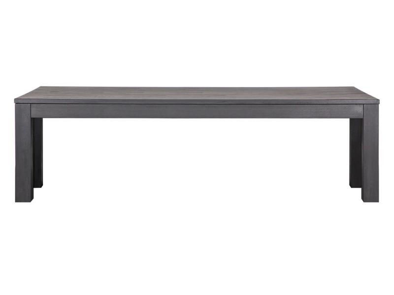 Banc rectangulaire en chêne noir 160 cm, h 46 x l 160 x p 30 cm - pegane - PEGANE