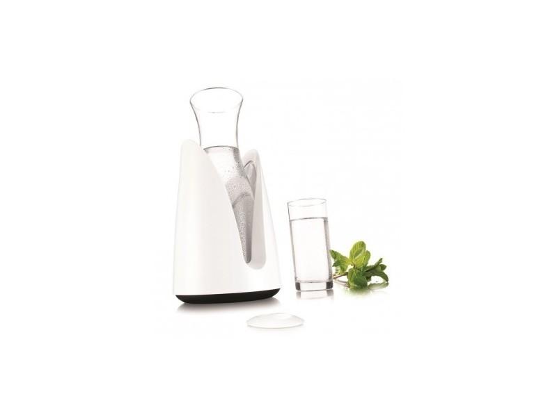 Carafe en verre 1 l avec support rafraîchissant blanc vacuvin