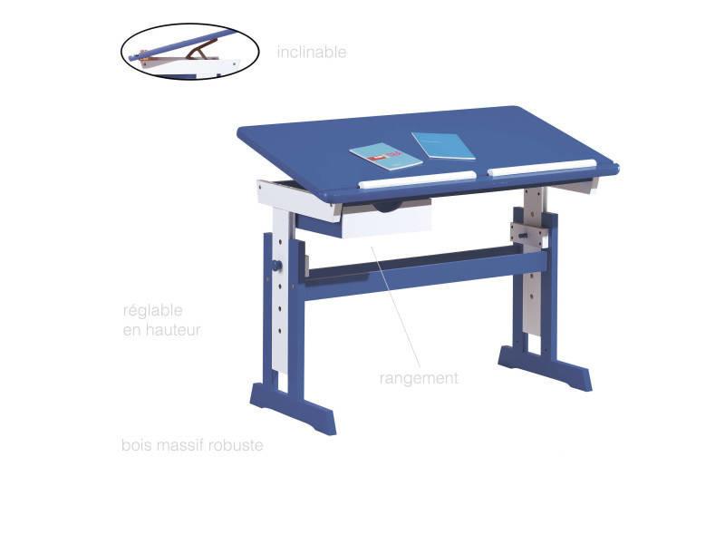 Bureau enfant jeune inclinable table réglable mutli fonction