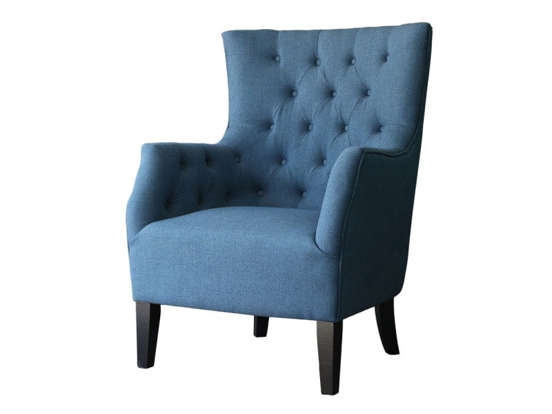 fauteuil scandinave tissu duchesse bleu roi vente de habitat et jardin conforama. Black Bedroom Furniture Sets. Home Design Ideas