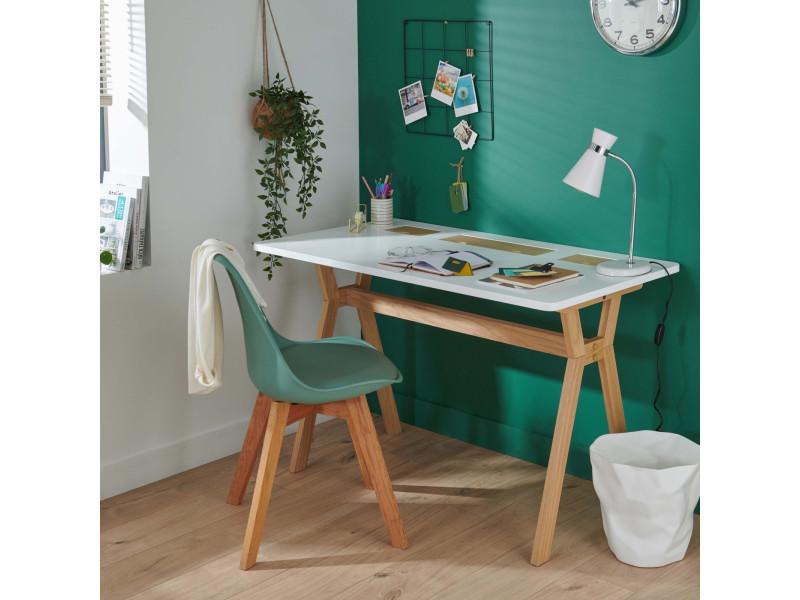 Offre bureau scandinave bois blanc cm accessoires offerts