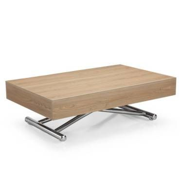 Table basse relevable cube ch ne clair extensible 10 - Table basse relevable extensible conforama ...