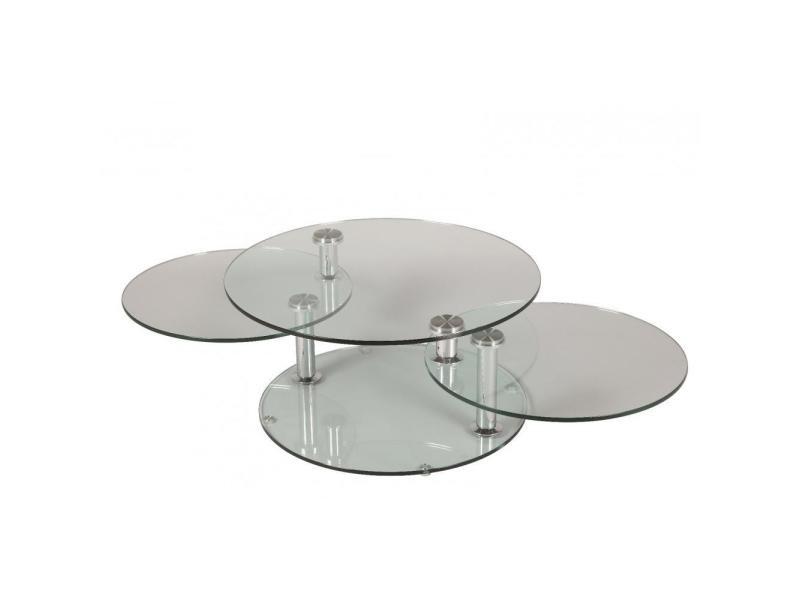 Table basse design level ronde double plateaux 20100841340