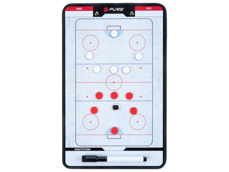 Inedit divers sports collection la valette pure2improve tableau d'entraîneur hockey sur glace 35x22 cm p2i100640