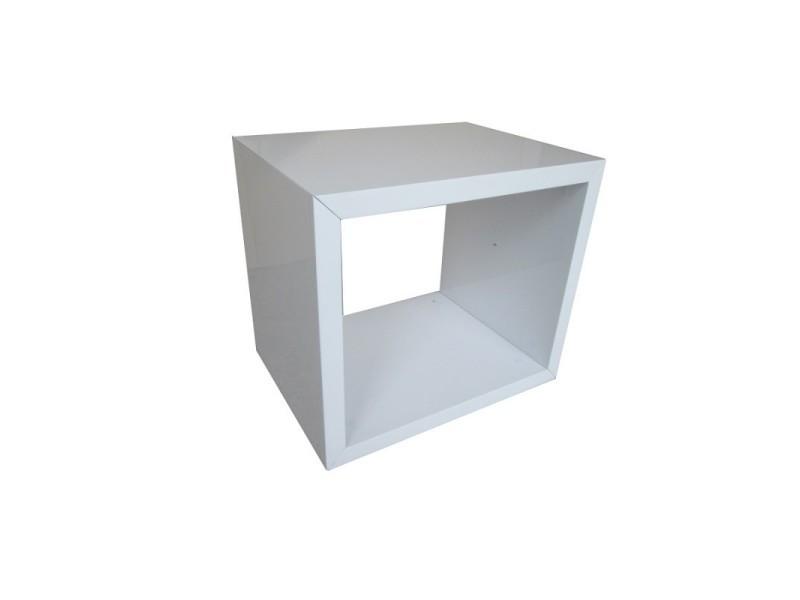 Table de chevet hamilton design,coloris blanc.