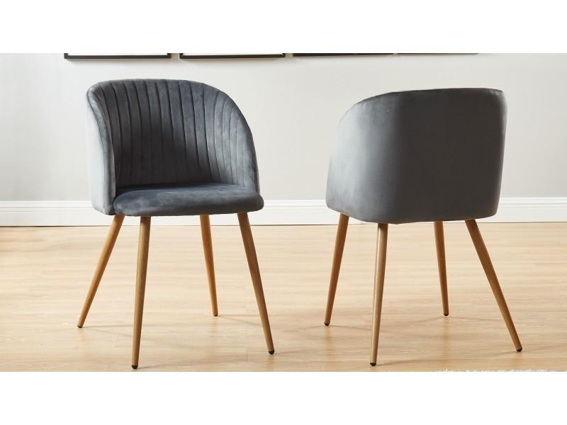 Lot de 2 chaises couleur anthracite - collection jimi