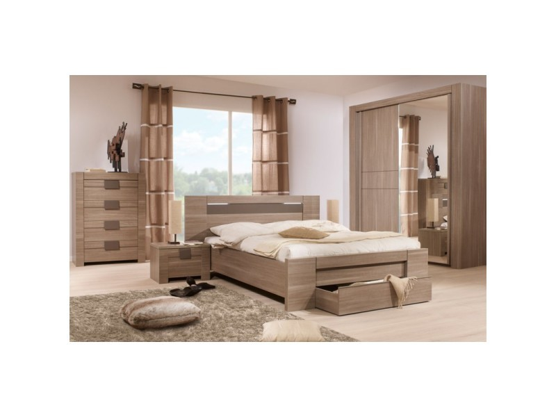 Chambre adulte compl te 140 190 n 3 macao l 177 x l for Chambre adulte complete venise iii