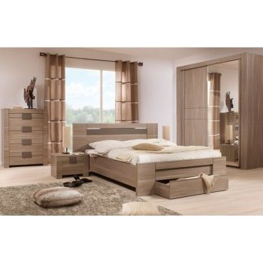 chambre adulte compl te 140 190 n 3 macao l 177 x l 198 x h 88 neuf vente de. Black Bedroom Furniture Sets. Home Design Ideas