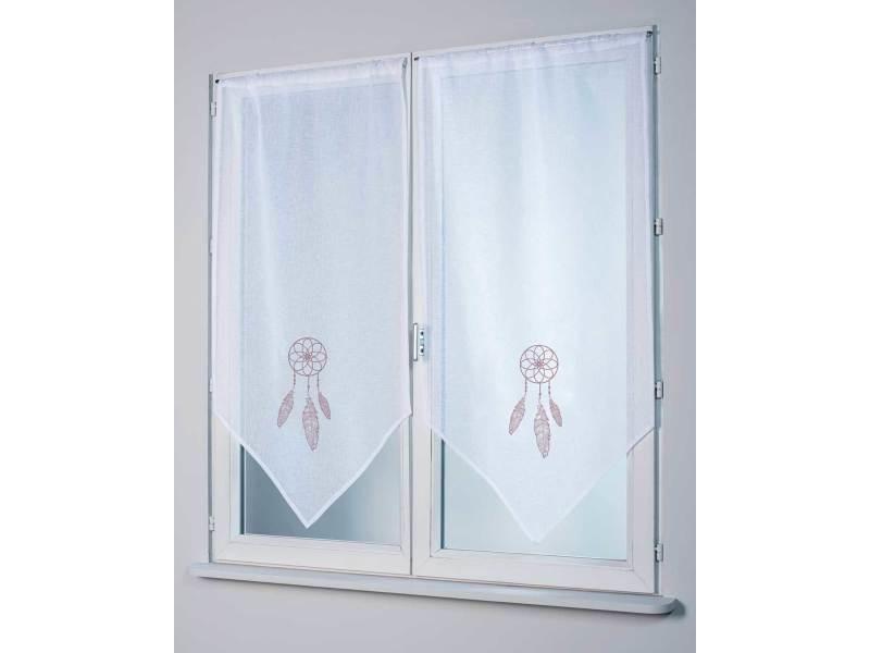 paire de vitrages attrape r ves 58 x 120 cm vente de rideau voilage store conforama. Black Bedroom Furniture Sets. Home Design Ideas