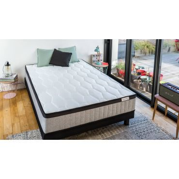 ensemble matelas ressorts ensach s 180x200 2 sommiers 90x200 spring memo royal hbedding. Black Bedroom Furniture Sets. Home Design Ideas