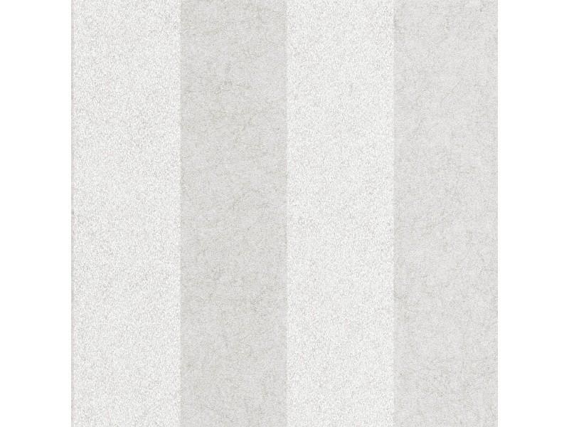 Papier peint intissé artisan rayures fibreux métallique 1005 x 52cm argent 33-326