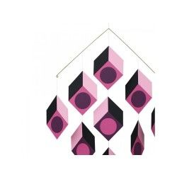 Mobile livingly cubillusion rose type vasarely