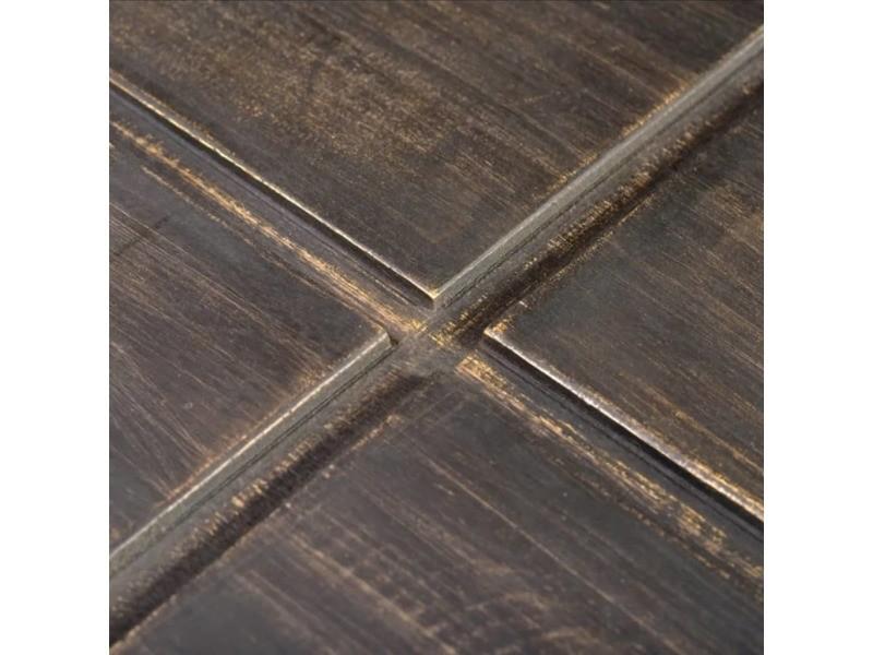 Vidaxl table basse carrée marron foncé bois massif de manguier 241133