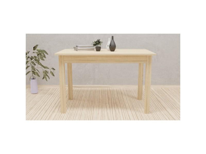 Nillo - table à manger extensible - 6-8 personnes - 120-160x77x70cm - plateau 22 cm - style scandinave - sonoma