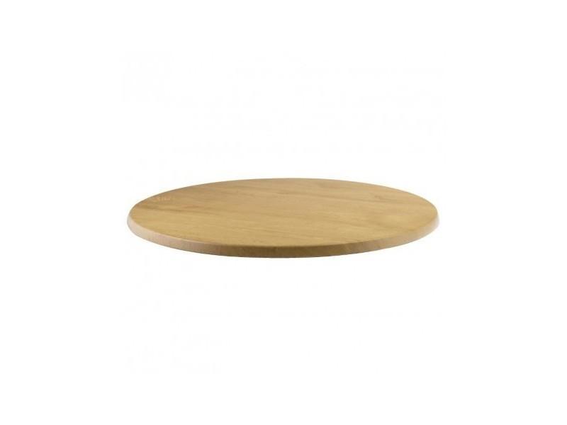 Plateau de table rond imitation chêne 600 mm werzalit
