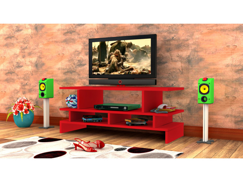 Meuble tv design twist2 rouge
