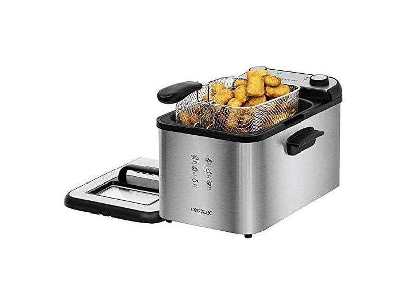 Friteuse électrique 4 l 3270w noir argenté