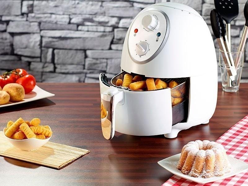 Friteuse électrique à air chaud 1400 w ''hf-270'' blanc