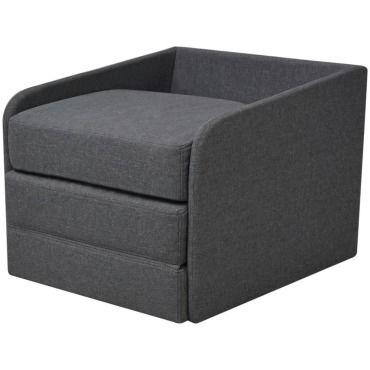 Vidaxl fauteuil convertible 59,5 x 72 x 72,5 cm tissu gris