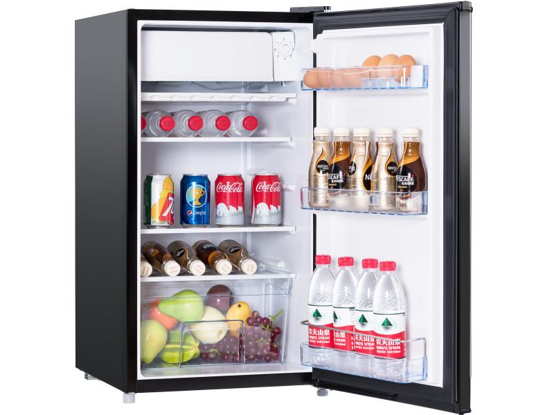 Giantex frigo combiné réfrigérateur réfrigérateur 91 liters mini-frigo classe economies d'energie (noir)