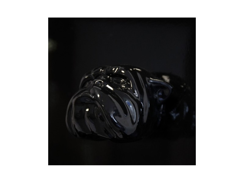 Tableau Noir En Resine Huit Tetes De Chien Bouledogue Anglais 80 Cm Vente De Autre Objet De Decoration Conforama