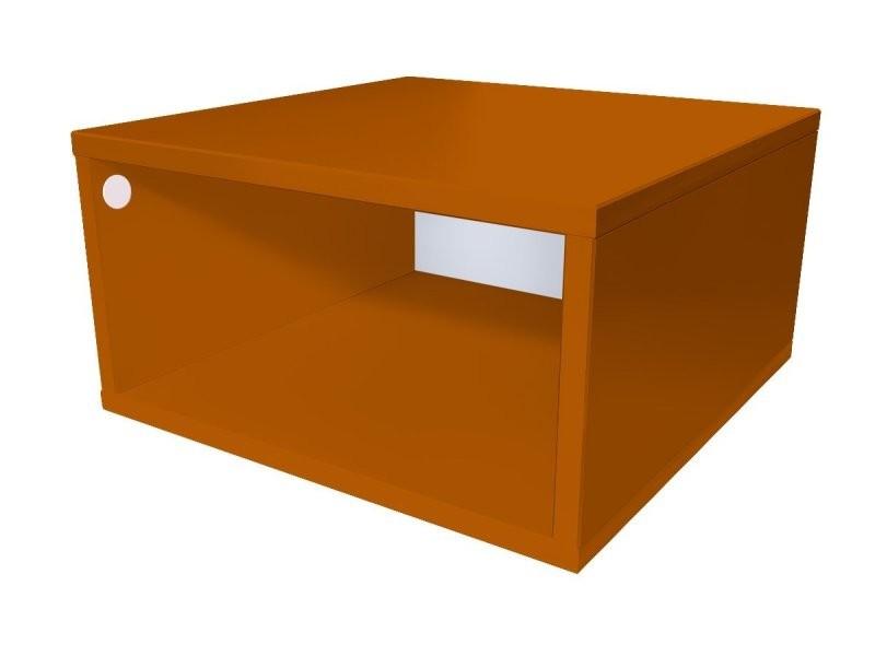 Cube de rangement bois 50x50 cm 50x50 chocolat CUBE50-CH