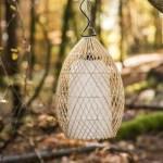 Lampe suspension en osier 37 cm