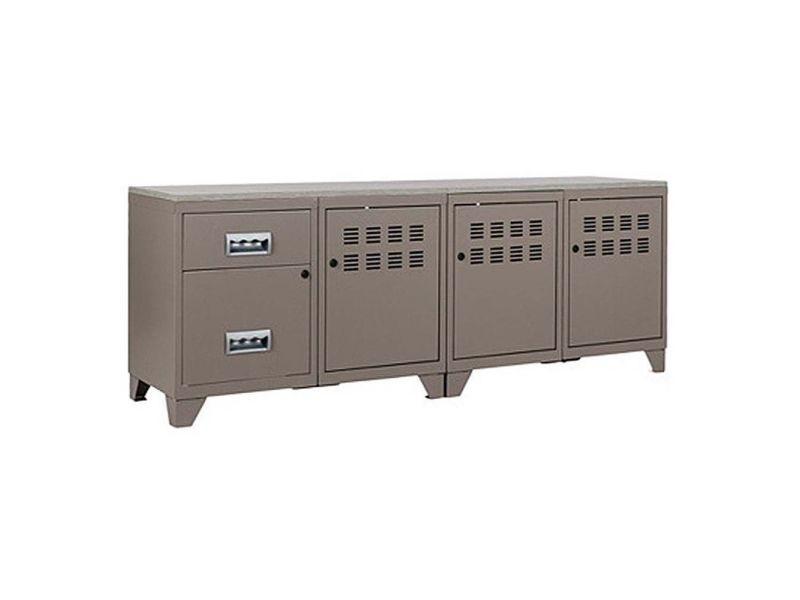 Meuble tv bois métal industriel