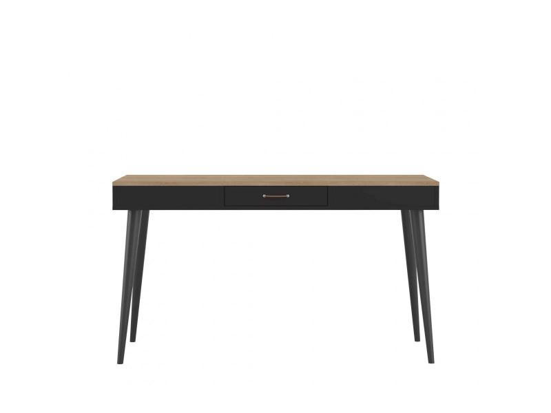 Bureau en bois noir avec tiroir central bu vente de