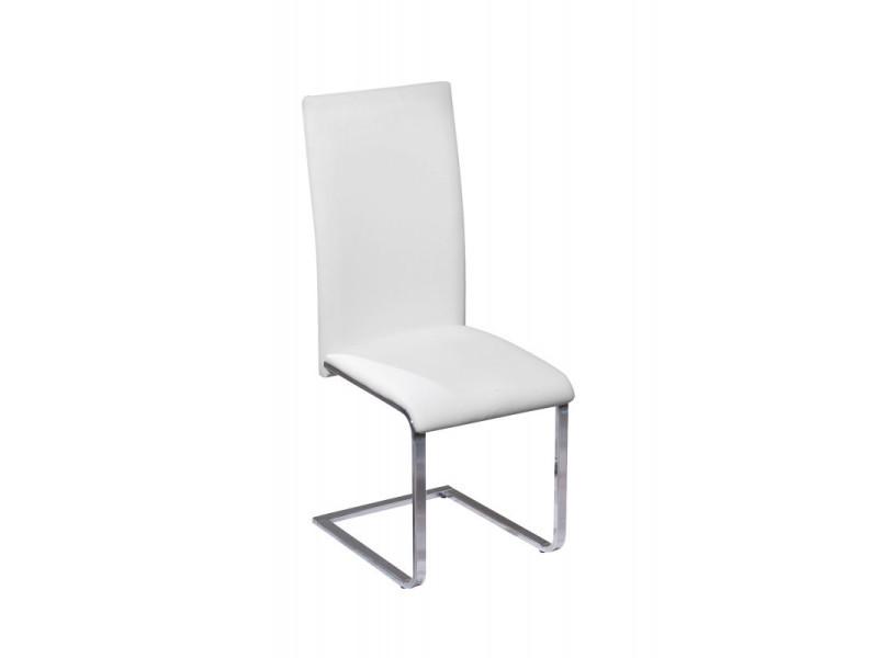 Chaise Moderne Design Cuisine Sejour Salle A Manger Chrom Simili