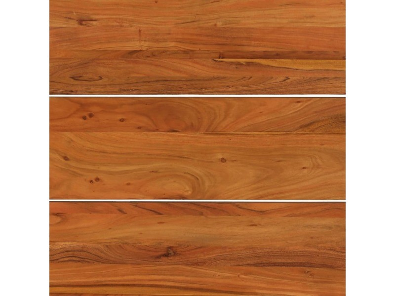 Vidaxl table de salle à manger bois acacia finition sesham 180x90x76cm 246352