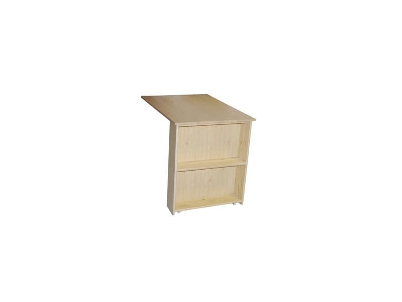 Bureau porto escamotable vernis naturel conforama