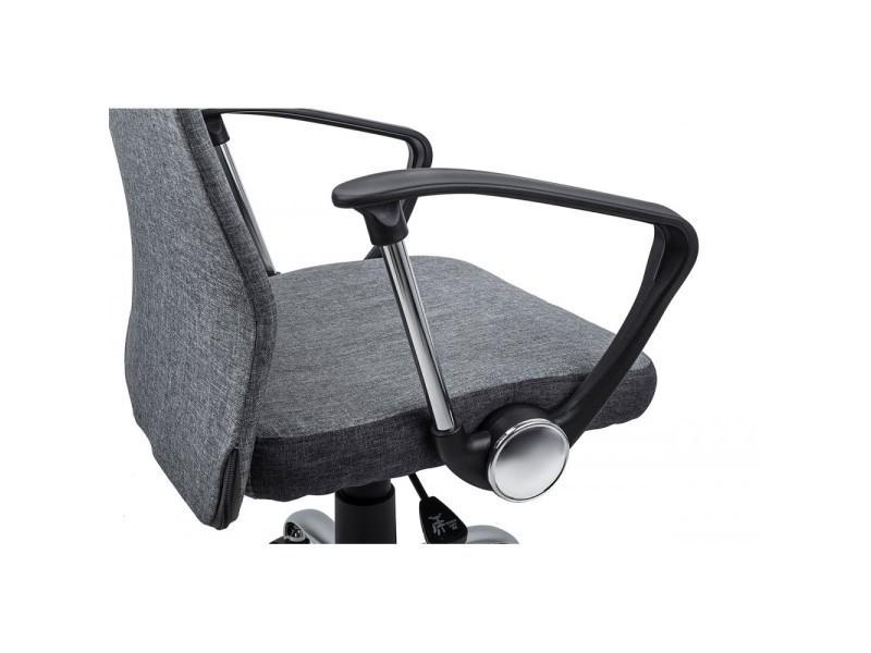 davik chaise de bureau ergonomique confort support du dos gris vente de homekraft conforama. Black Bedroom Furniture Sets. Home Design Ideas