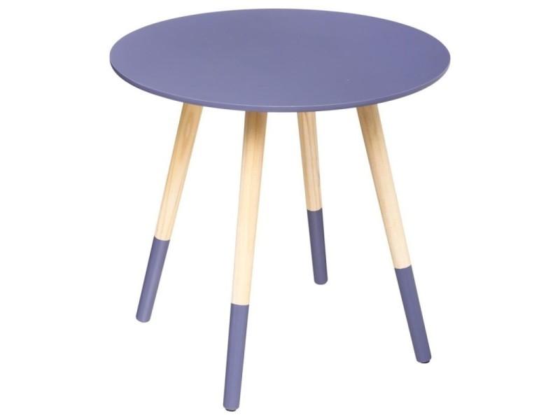 Table basse ronde mileo violet vente de atmosphera - Table basse ronde conforama ...