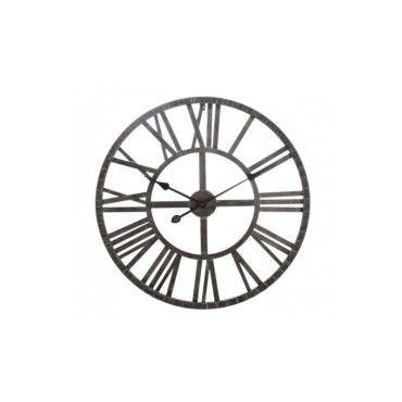 grande horloge murale ronde fer marron chiffres romains vente de