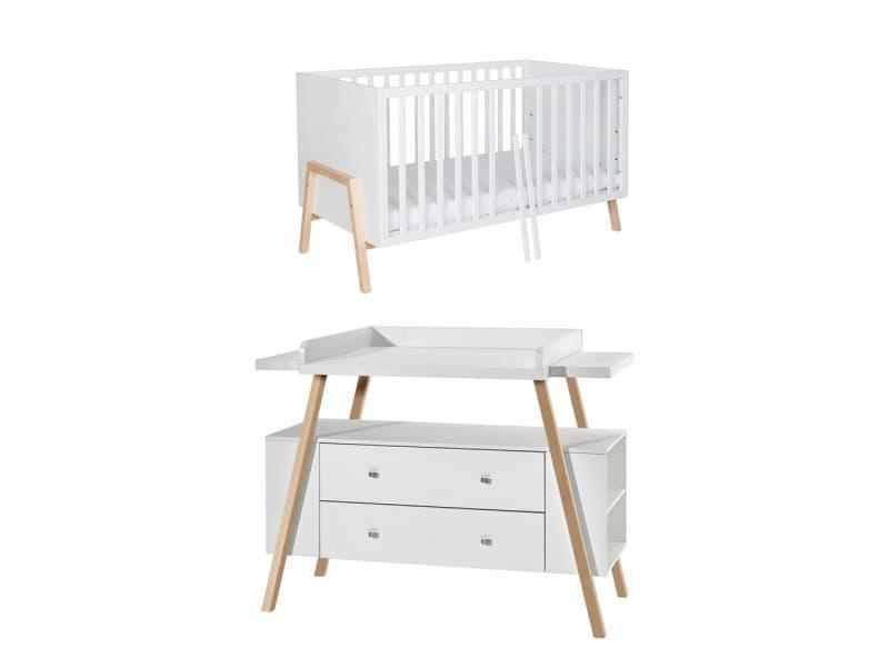 Petite chambre originale pour bébé happy avec lit bébé à barreaux ...