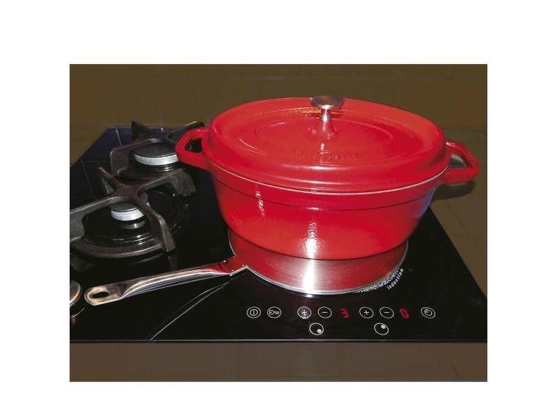 Cuisine plaque relais induction en inox ø 24 cm.manche 14 cm. Permet d'utiliser vos anciennes casser