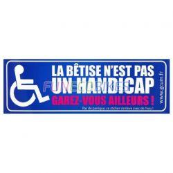 Sticker la bêtise n'est pas un handicap
