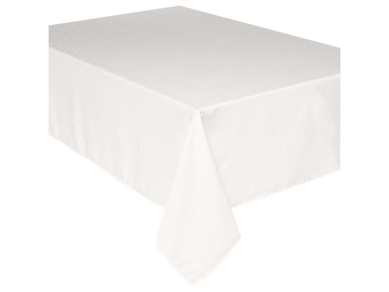 Nappe anti-tâches carrés - 140 x 240 cm - ivoire
