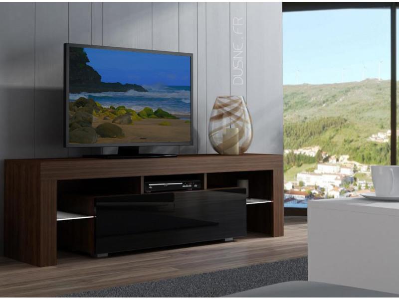 Meuble Tv Noir Laque Conforama