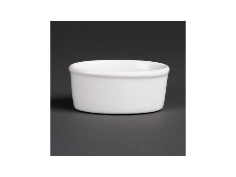 Ramequin ovale blanc olympia 105mm - vendus par 12 - 10,5 cm porcelaine 0 cl