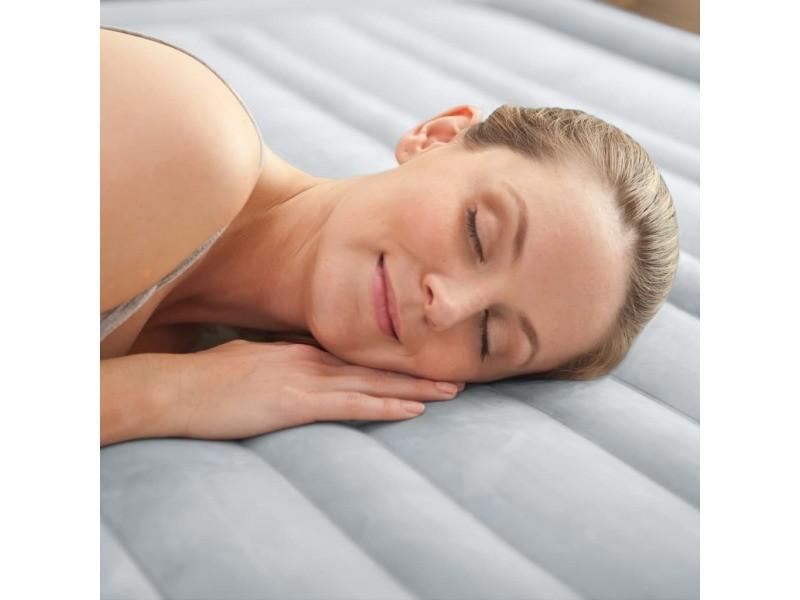 Intex lit gonflable dura-beam deluxe comfort plush reine 152x203x46 cm 92044