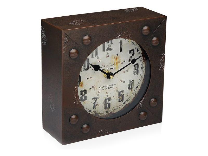 Horloges murales et de table moderne horloge de table métal (20 x 20 cm)