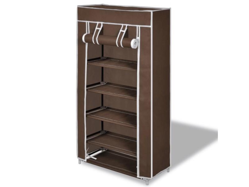 armoires chaussure tag re 10 paires tissu marron helloshop26 2002037 vente de penderie en. Black Bedroom Furniture Sets. Home Design Ideas