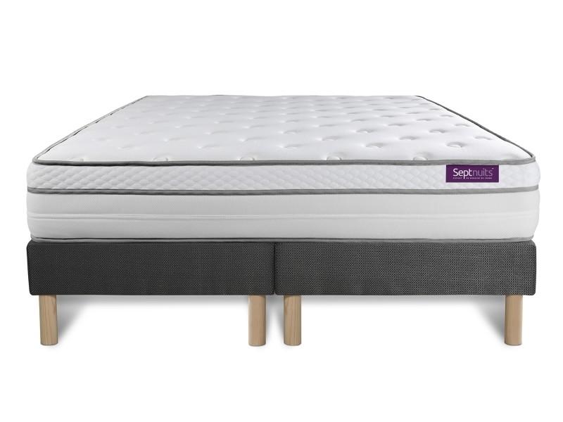 matelas 160x200 double sommiers gris 80x200 memo luxe ressorts ensach s m moire de forme 5. Black Bedroom Furniture Sets. Home Design Ideas