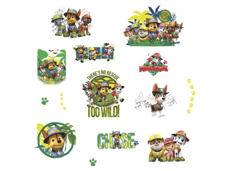 14 stickers jungle pat' patrouille