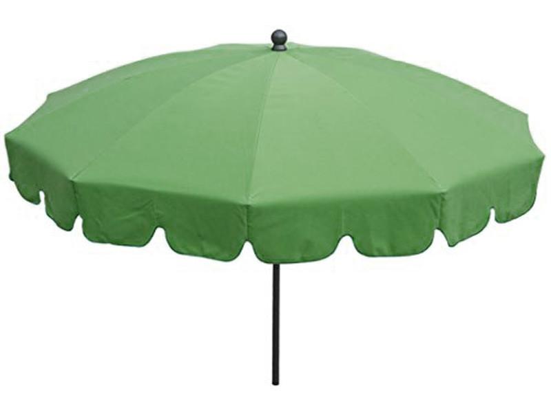 Parasol rond centré coloris vert - dim : h 230 x d 200/10 cm - pegane -