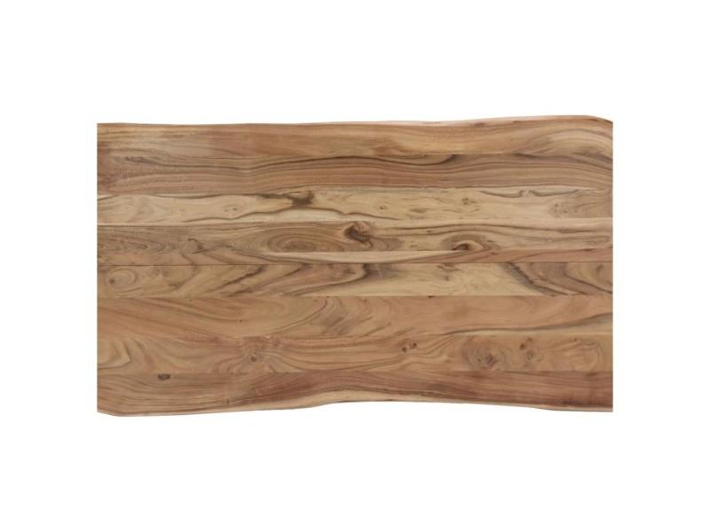 table à Vidaxl de salle cm d'acacia manger bois 140x80x76 DW9YEHI2