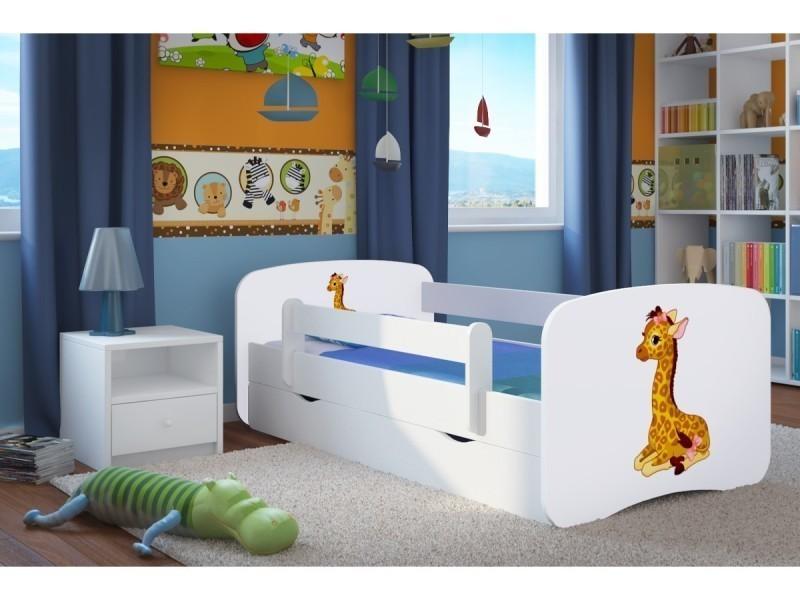 lit enfant girafe 80 cm x 180 cm avec barriere de. Black Bedroom Furniture Sets. Home Design Ideas