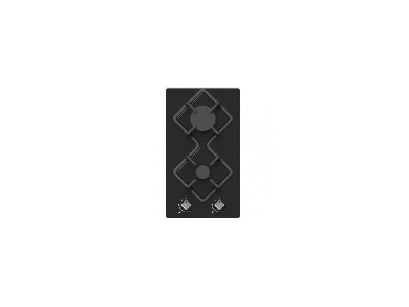 Table de cuisson gaz domino hdg2vn hudson - 2 foyers - verre noir HUDHDG2VN